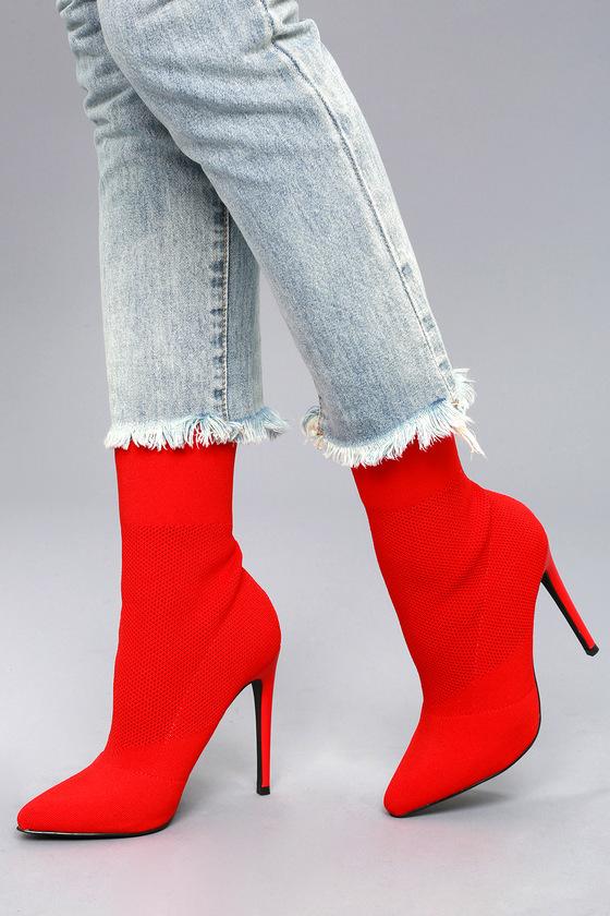 37cea5e71b6 Steve Madden Century Booties - Red Mid-Calf Boots