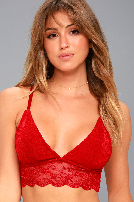 Breathe Free Red Lace Bralette 2