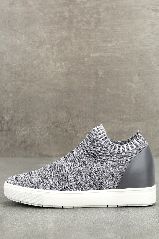 47114f1314a Steve Madden Sly - Grey Multi Knit Sneakers - Wedge Sneakers