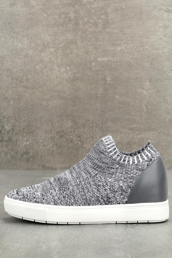 Sly Grey Multi Knit Sneakers 2