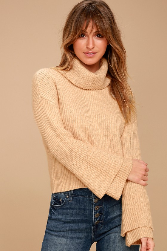 Sage the Label Chloe - Beige Cowl Neck Sweater
