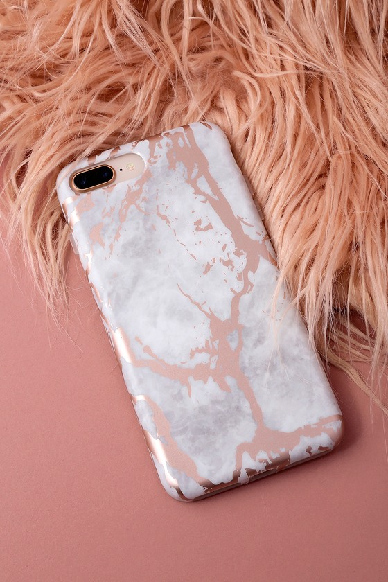 Velvet Caviar Rose Gold Chrome Marble Phone Case Iphone 7