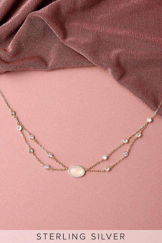 Elemental Style Rose Gold Rhinestone Choker Necklace 2
