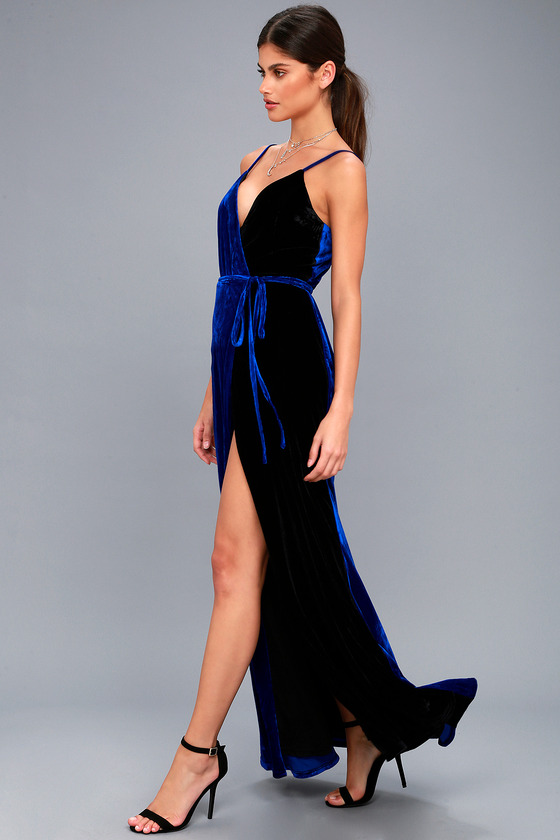 3ba9fb2b2b0 Glamorous Royal Blue Maxi Dress - Velvet Maxi Dress