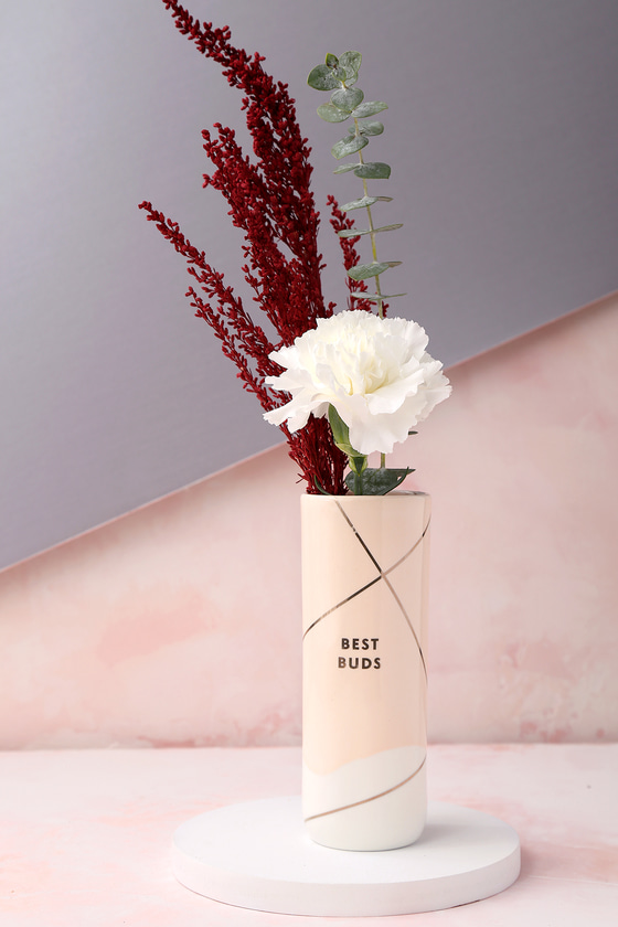 Best Buds White and Blush Vase 4