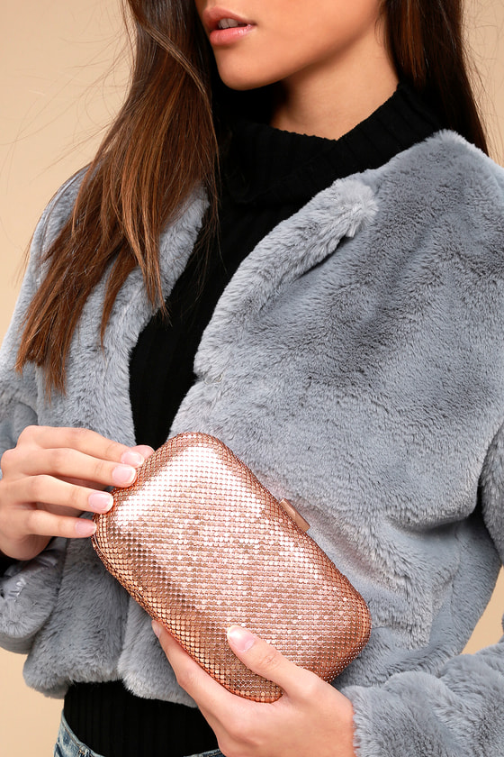 Avangeline Rose Gold Clutch 1