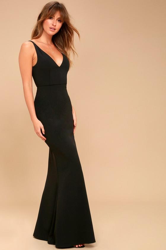 377fc9e8e6 Sexy Black Maxi Dress - Sleeveless Maxi Dress - Mermaid Maxi