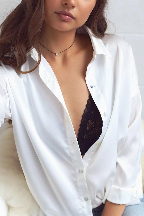 Charming Choice Black Rhinestone Choker Necklace 5