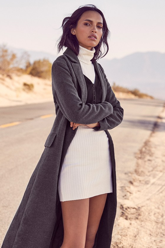 d9d59d9fdb8 Cozy Sweater Dress - Ivory Sweater Dress - Bodycon Dress
