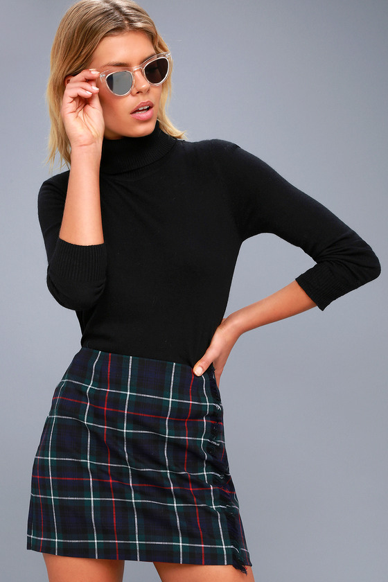 Graham Forest Green Plaid Mini Skirt 3