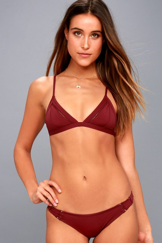 2cec0fb0f1c Rhythm My Cheeky Bikini Bottom - Wine Red Bikini Bottom