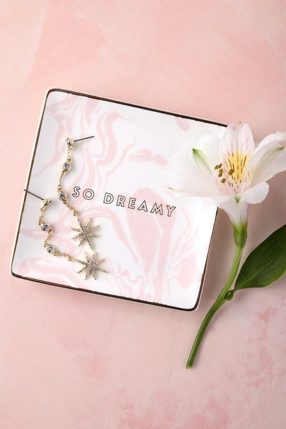 So Dreamy White and Pink Decorative Tray 4
