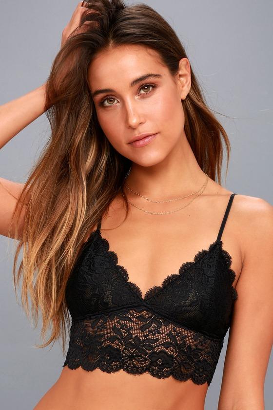832cfa083179ee Sexy Black Lace Bralette - Black Bralette - Lace Bra