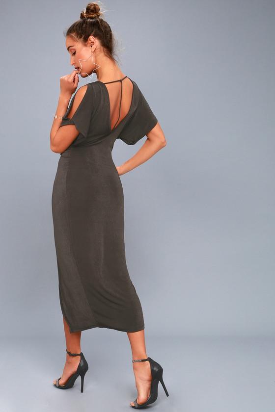2b8e514af1f ASTR the Label Kiera - Midi Dress - Twist Front Dress