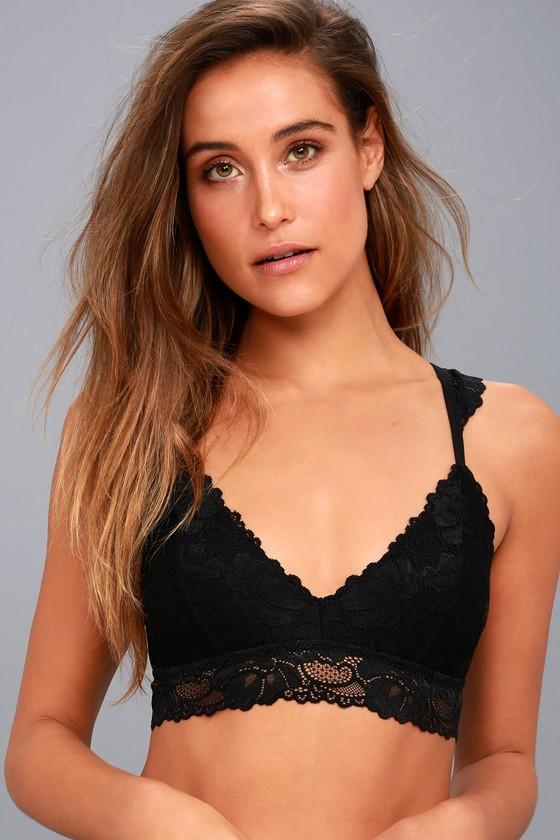 Cherished Black Lace Bralette 1