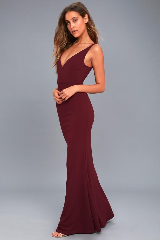 4096c28c4dece Plum Purple Dress - Sleeveless Maxi Dress - Mermaid Maxi