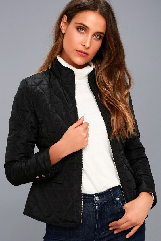 Chic Black Jacket - Lightweight Jacket - Quilted Jacket