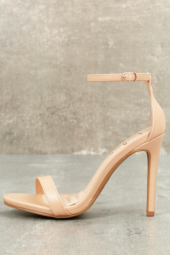 Loveliness Nude Ankle Strap Heels Lulus $33