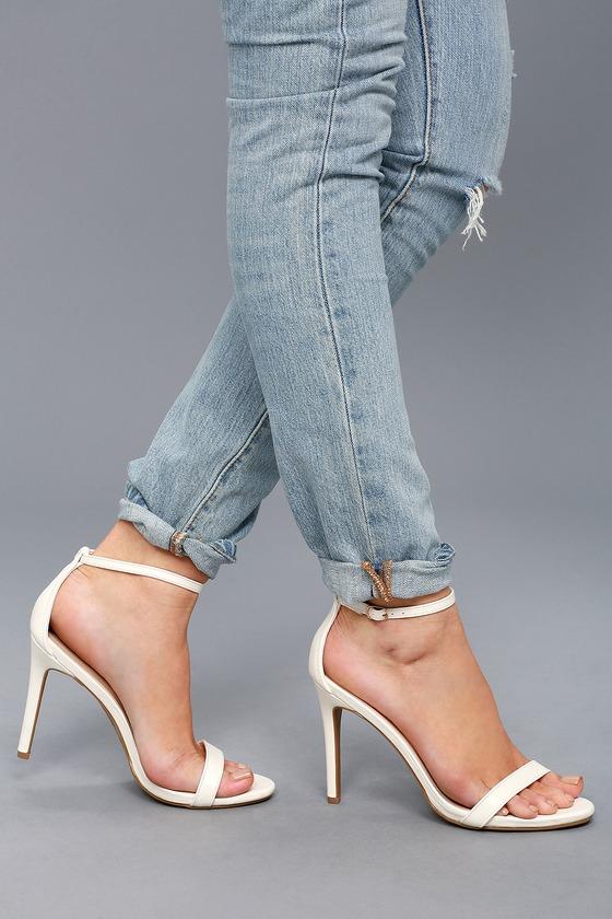 White Heels - Ankle Strap Heels