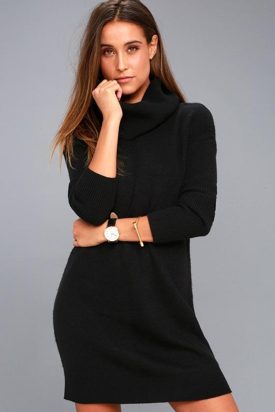 Tea Reader Black Sweater Dress 7