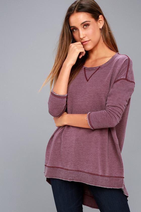 The Weekender Washed Plum Purple Sweatshirt 6