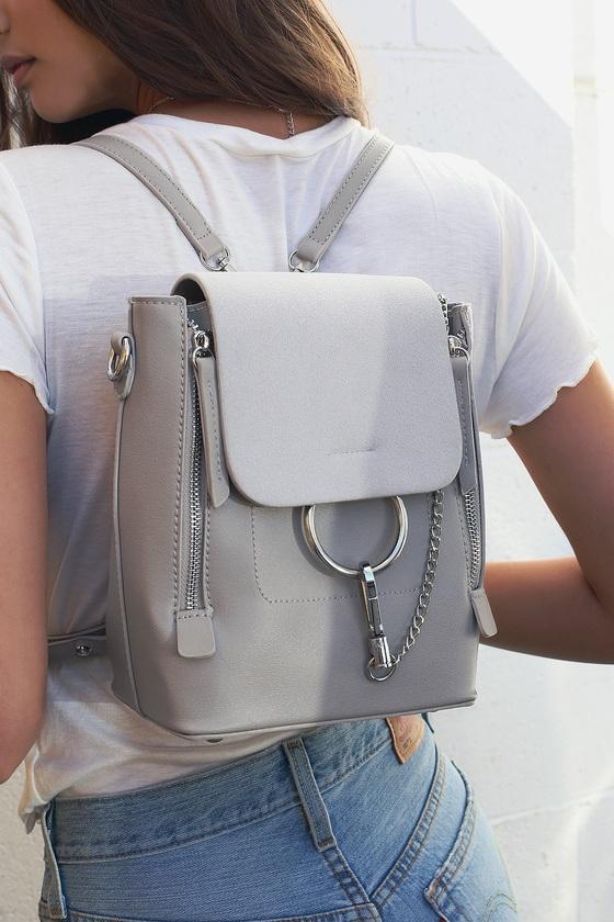 Sidewalk Stunner Grey Backpack 8