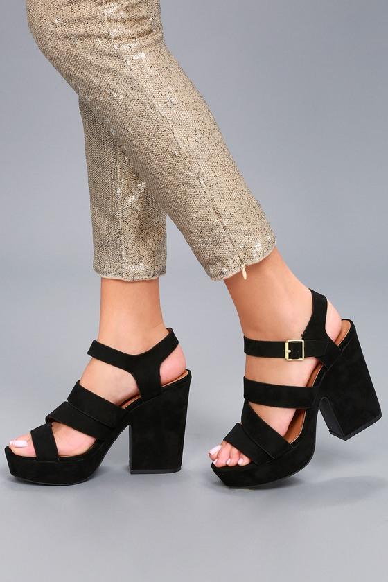 9f81a2dd90e2 Cute Platform Heels - Platform Sandals - Black Heels