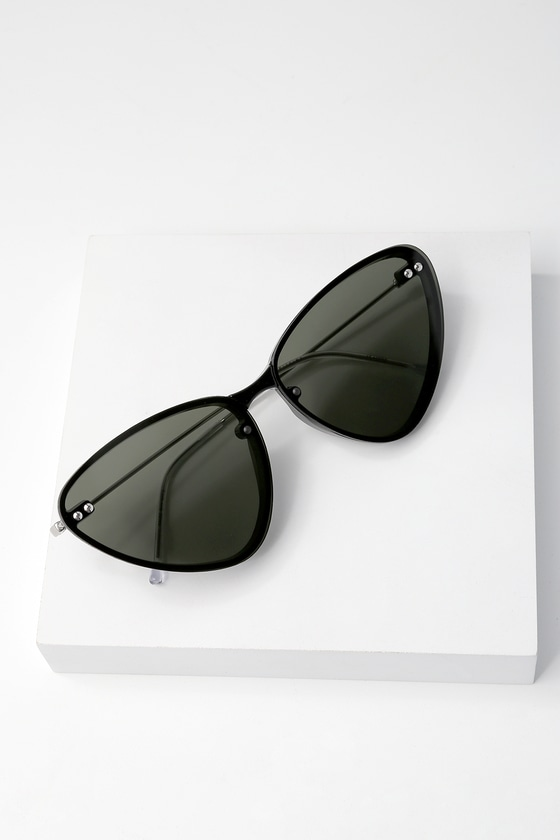 1d0818f10d3 Spitfire Twice Shy Sunglasses - Black Cat-Eye Sunglasses