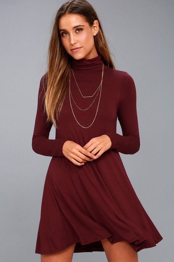 Sway, Girl, Sway! Wine Red Swing Dress 8