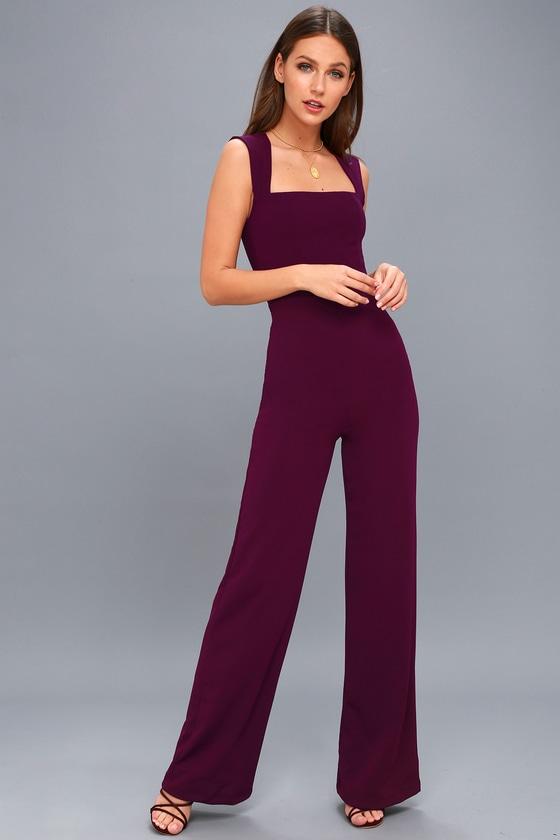 5d83e0ca6336 Stylish Plum Purple Jumpsuit - Sleeveless Jumpsuit