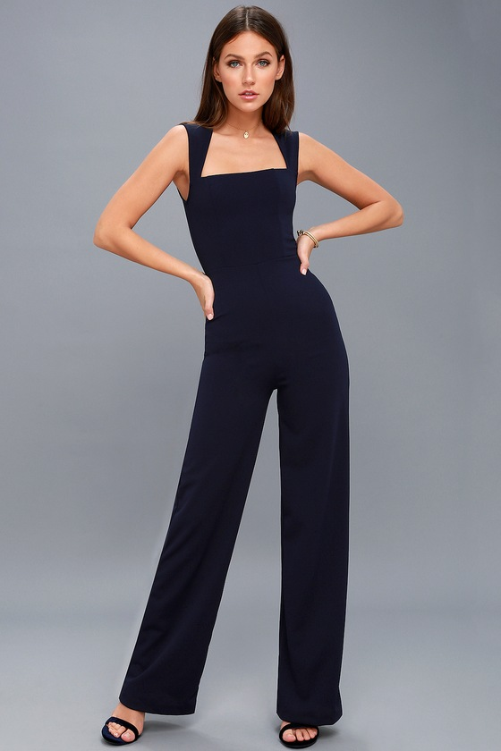 Vintage Overalls 1910s -1950s Pictures and History Enticing Endeavors Navy Blue Jumpsuit - Lulus $49.00 AT vintagedancer.com
