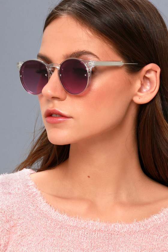 224d9286e81 Spitfire Post Punk - Clear and Purple Mirrored Sunglasses