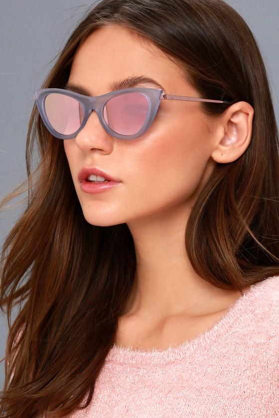 744a325a77da Le Specs Enchantress - Blue Sunglasses - Cat-Eye Sunglasses