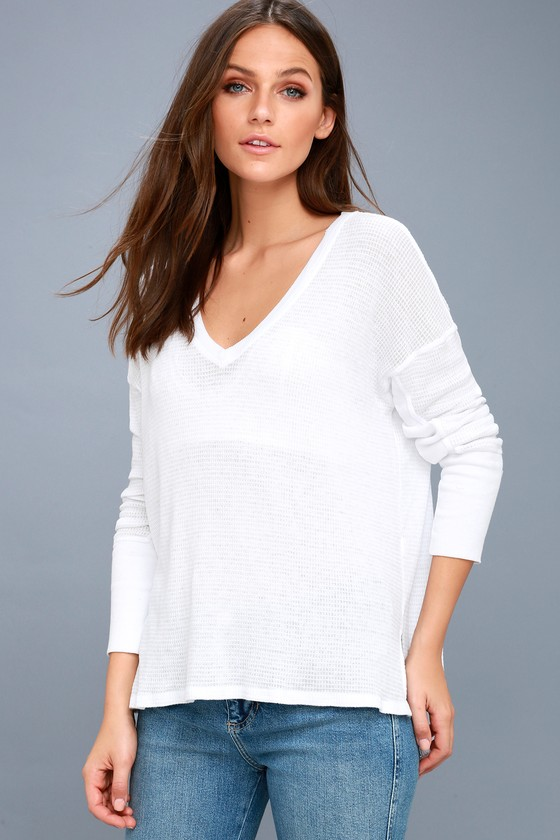 Sawyer White Long Sleeve Thermal Top 5