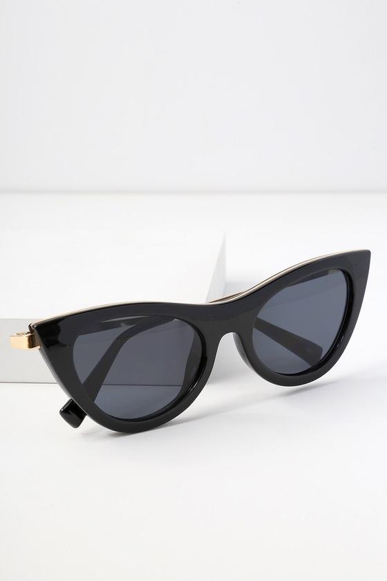 c7faa7cd0a93 Le Specs Enchantress - Black Sunglasses - Cat-Eye Sunglasses