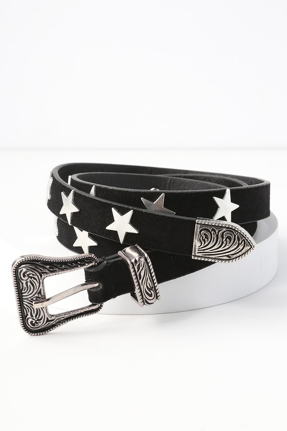 Star Studded Silver and Black Belt