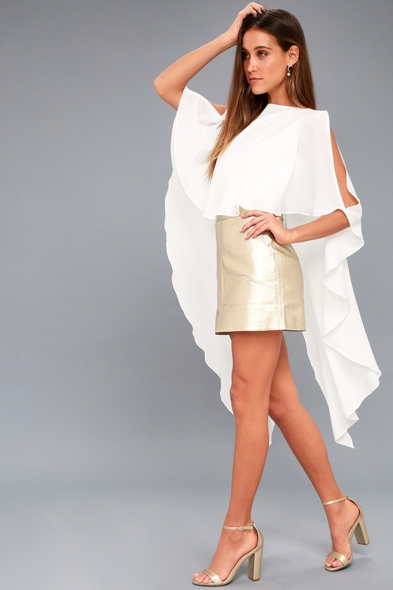 Chic White Top - High-Low Top - Cape