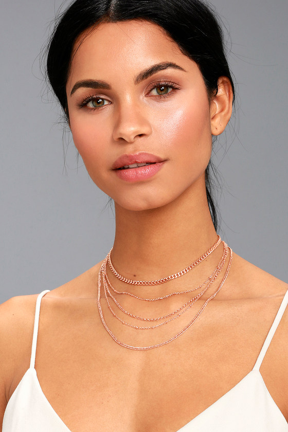 Link in the Chain Rose Gold Layered Necklace