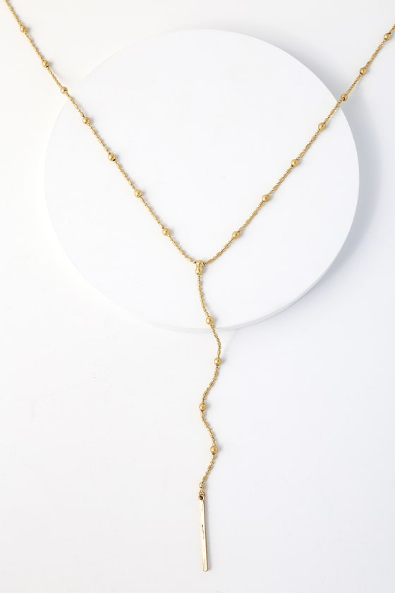 Better and Brighter Gold Drop Necklace