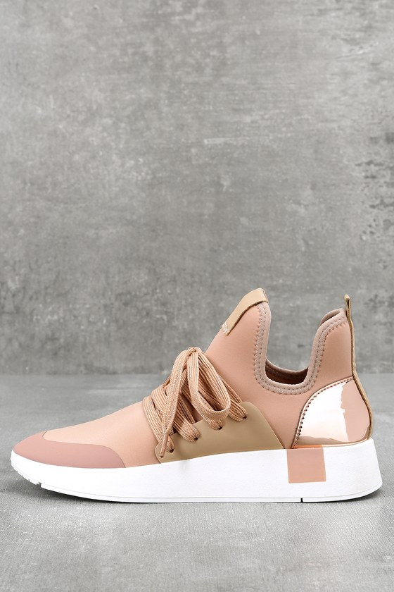 24ce38200cf Steve Madden Shady - Blush Sneakers - Street Style Sneakers