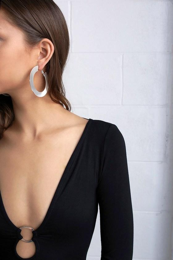 Auric Silver Hoop Earrings 1