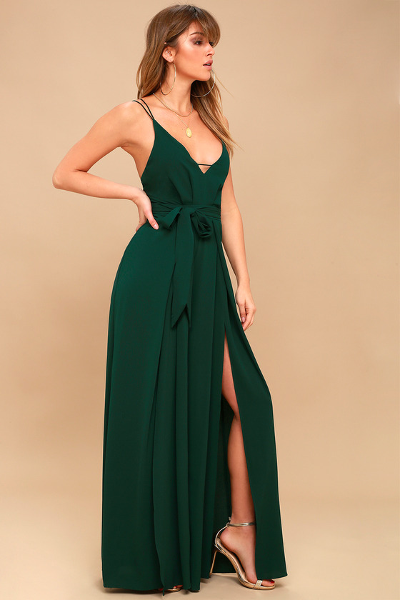 bc041d053fcf Sexy Backless Jumpsuit - Forest Green Wide-Leg Jumpsuit