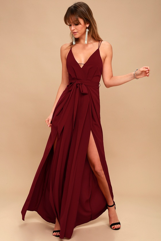 986f45dfac5c Sexy Backless Jumpsuit - Wine Red Wide-Leg Jumpsuit