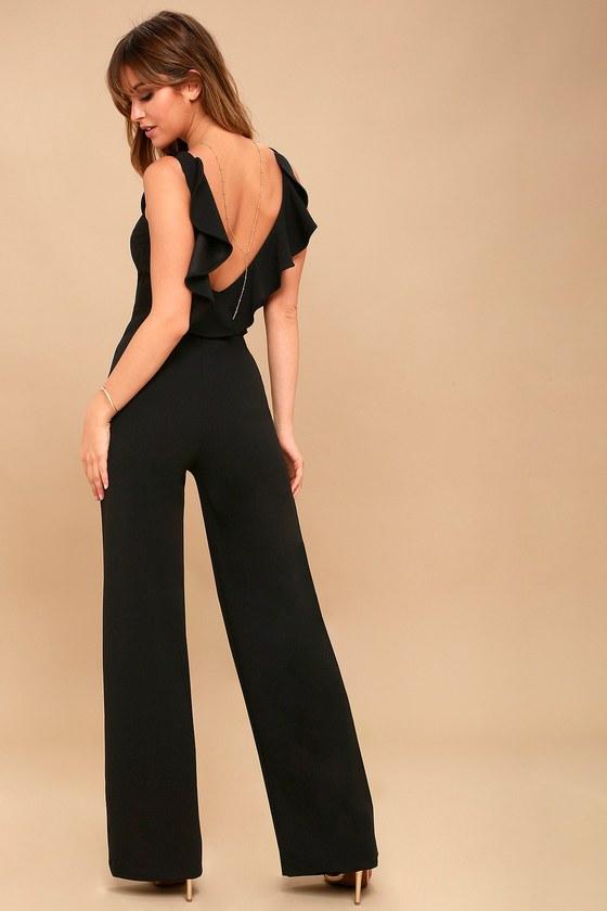 Clothing, Shoes, Accessories Obliging Womans Black Jumpsuit Velvet