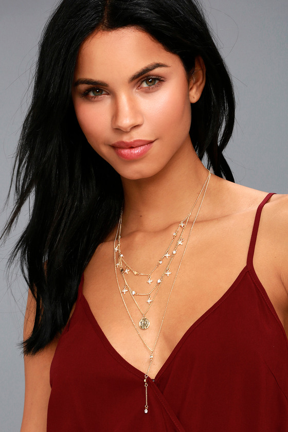 Glittering Constellation Gold Layered Necklace 2
