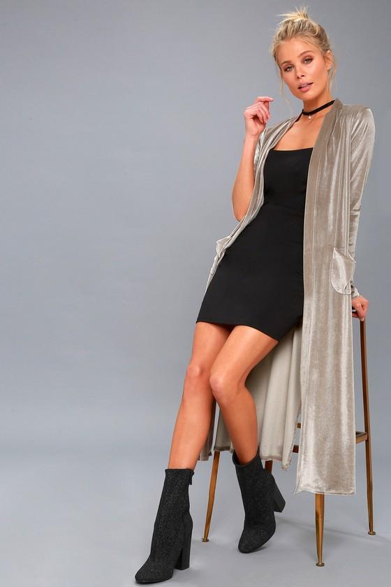 Erica Taupe Velvet Duster