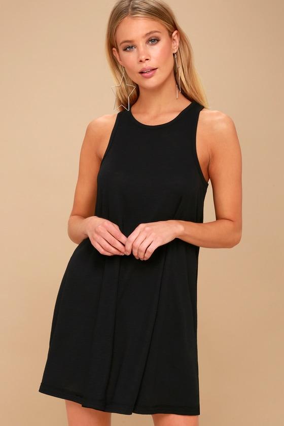 98a9d6b667 Free People LA Nite Mini Dress - Black Tank Dress