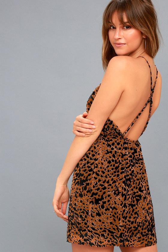 6b2841b82 Sexy Leopard Dress - Halter Dress - Burnout Velvet Dress