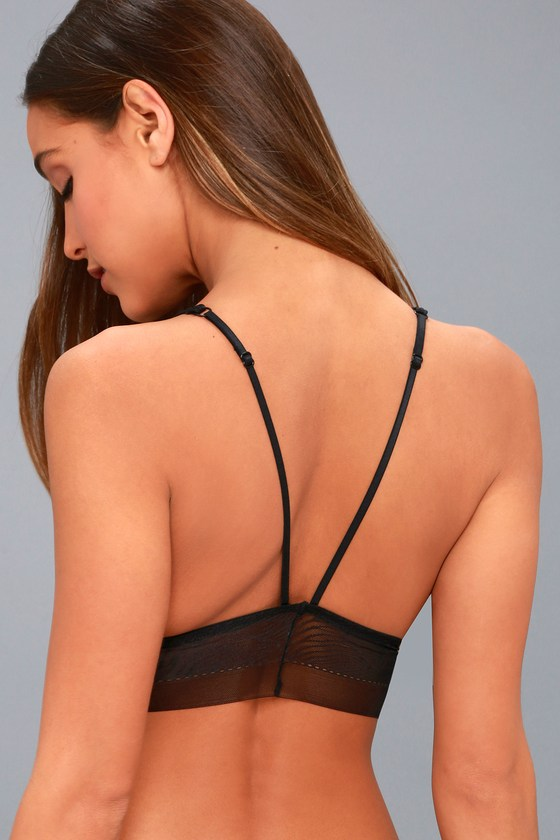 07466396b3 Free People Can t Be Tamed Bralette - Black Lace Bralette