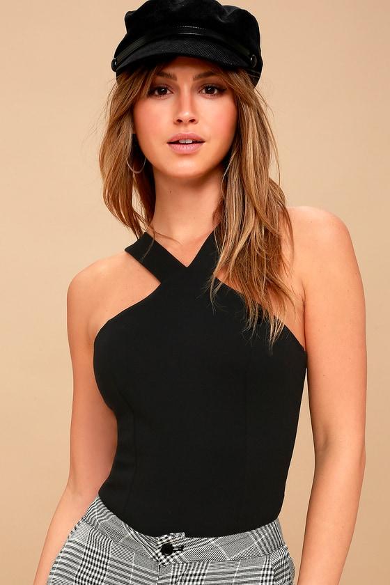 Cute Black Bodysuit - Halter Bodysuit - Trendy Bodysuit 8283cc063